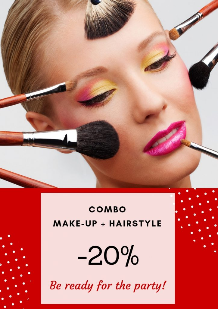 hair and make-up combo on sale