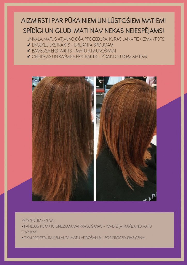 matu atjaunošanas procedūra matu mīkstumam un zīdainumam