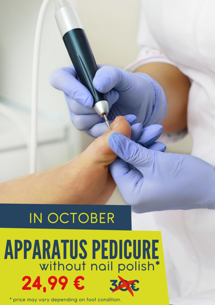 Apparatus pedicure in october for a special price